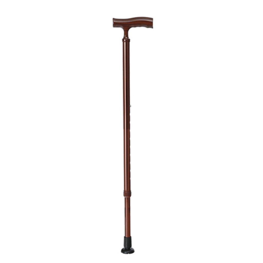 HAIYING ウォーキングスティックアルミ杖高齢者引き込み可能なノンスリップ調節可能な高さウォーキングスティック成形プラスチックハンドル74-97CM高齢者のためのギフト (色 : ブロンズ) B07B86JGQK ブロンズ ブロンズ