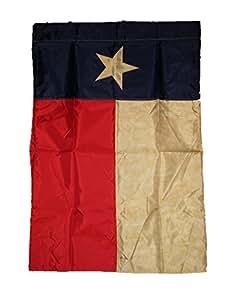 """28x 40bandera de Jardín de manga bordado Texas té. 28""""x40"""" Nylon Banner"""