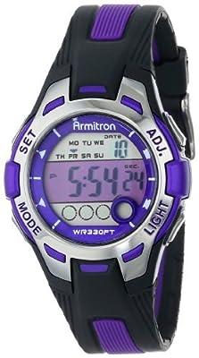 Armitron Sport Women's 45/7030 Digital Chronograph Resin Strap Watch