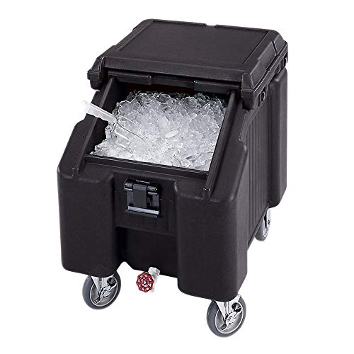 Cambro ICS100L110 Black Standard Sliding Lid Ice Caddy - 100 lbs.