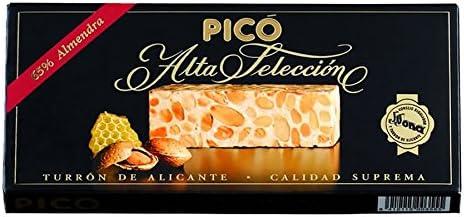 Picó - Turron de Alicante - Turron duro caja negra - Calidad superior 200gr: Amazon.es: Alimentación y bebidas