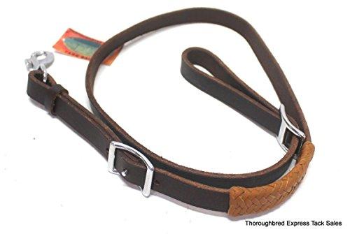 Down Latigo Tie Leather (D.A. Brand Latigo Leather Tie Down Strap w/ Braided Leather Trim Horse Tack)