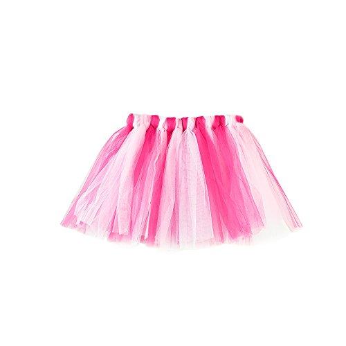 Girls Kids Baby Rainbow Fluffy Tutu Skirt Pettiskirt Ballet Fancy Costume(H,) -