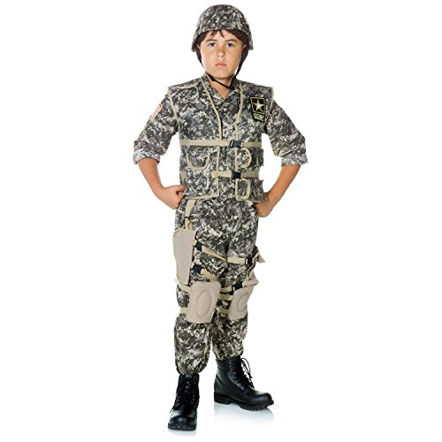 Army Ranger Dress Uniform (Underwraps Big Boy's Children's Deluxe Army Ranger Costume - Medium Childrens Costume, camouflage, Medium)