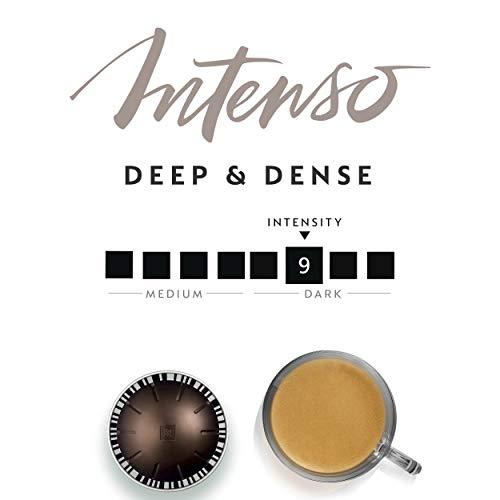 Nespresso Capsules VertuoLine, Intenso, Dark Roast Coffee, 30 Count Coffee Pods, Brews 7.8oz