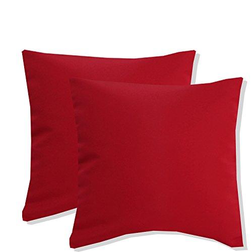 Hochwertiger Kissenbezug Damast uni rot , Kissenhülle 100% Polyester 40x40cm 2 Stück für den Preis und die Farbe ist auch wählbar
