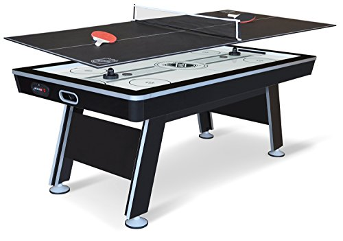 84 Inch Air Hockey Table - EastPoint Sports NHL Power Play Hover Hockey Table with Table Tennis Top, 80-inch