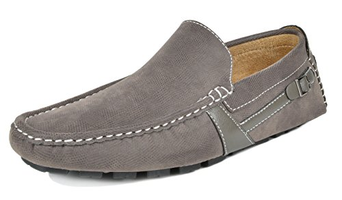 Bruno Marc Men's KENDO-02 Grey Penny Loafers Moccasins Shoes Size 10.5 M ()