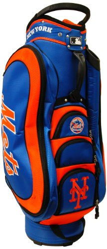 Cheapest Prices! Team Golf MLB New York Mets Medalist Golf Cart Bag, 14-way Top with Integrated Hand...