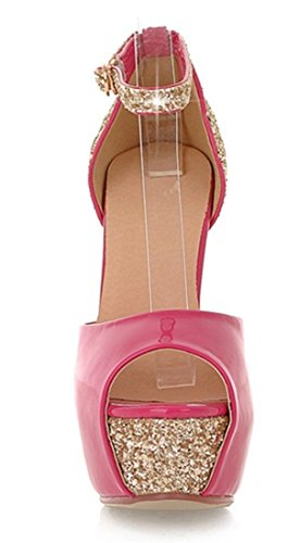 Alla Caviglia rosa Con Donna Rosa Scarpe Ye Cinturino HwUqxZ1F