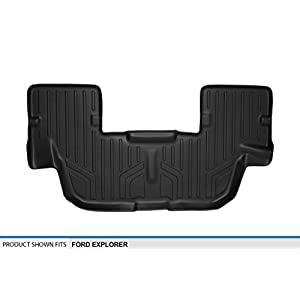 SMARTLINER Floor Mats 3rd Row Liner Black for 2011-2018 Ford Explorer