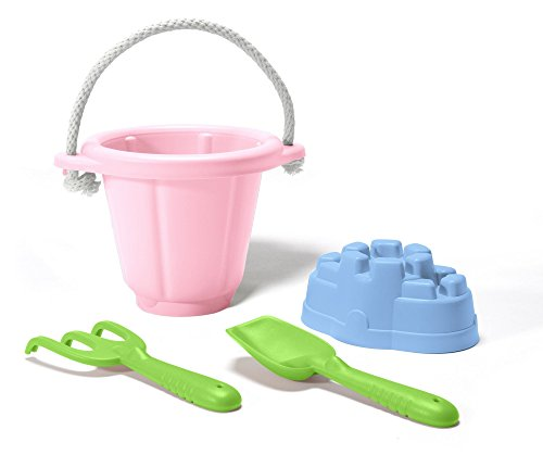 Recycled Plastic 100% Bucket - Green Toys Sand Play Set, Pink