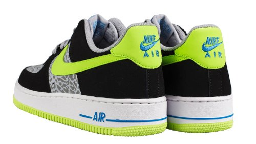 Nike Mens Air Force 1 Basso 7 M Ci Riflettono Argento / Volt / Nero