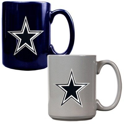 NFL Dallas Cowboys Two Piece Ceramic Mug Set - Primary Logo