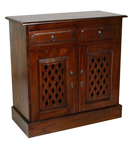 - NES Furniture abc10032 James Sideboard Buffet Fine Handcrafted Solid Mahogany Wood, 39 Inches, Brown