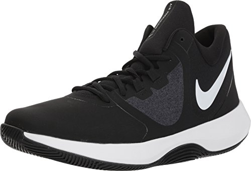 Nike Men's Air Precision II NBK Basketball Shoes (9.5 M US, Black/White)