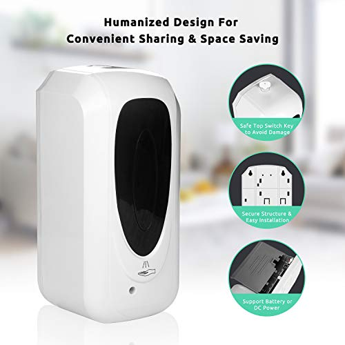 DriverGenius Automatic Hand Soap Sanitizer Dispenser (Touch-Free, Wall-Mounted,1000ml)