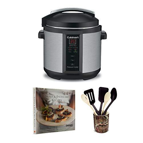 Cuisinart CPC-600 1000-Watt 6-Quart Electric Pressure Cooker Includes 6 Piece Crock Set and Cookbook (Certified Refurbished)