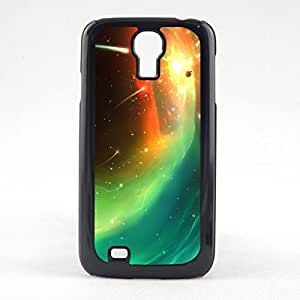 Case Fun Case Fun Yellow and Green Comets Snap-on Hard Back Case Cover for Samsun Galaxy S4 Mini (I9190)
