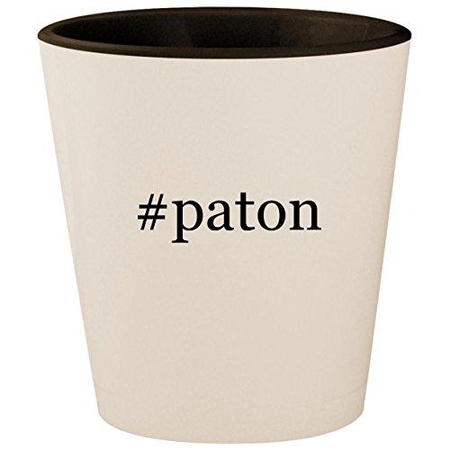 #paton - Hashtag White Outer & Black Inner Ceramic 1.5oz Shot Glass - Diana Metal Chair