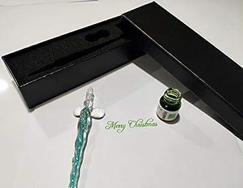 iLink Stylo /à tremper en verre 3 pi/èces Arc-en-ciel l/écriture stylo signature en cristal pour lart les signatures /— D/écoration et cadeaux daffaires 3 pi/èces