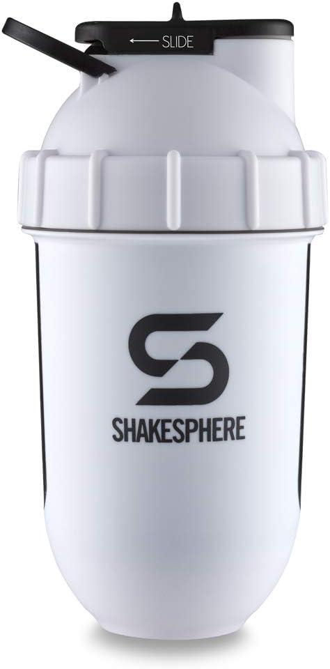 1,3 L, con logo en blanco ShakeSphere ShakeSphere Botella de agua mate color negro