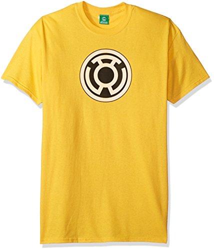 DC Comics Men's Green Lantern Short Sleeve T-Shirt, Yellow, (Yellow Lantern T-shirt)