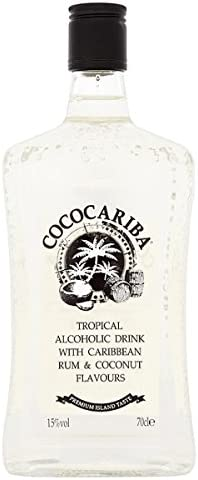 Coco Cariba tropical Bebida alcohólica con el Caribe ron y ...