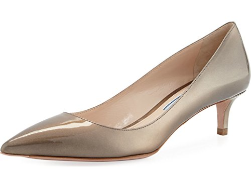 Pumps Patent Leather Prada (Prada Pearlescent Patent Pointed-Toe 45mm Pump Shoes Size 40)