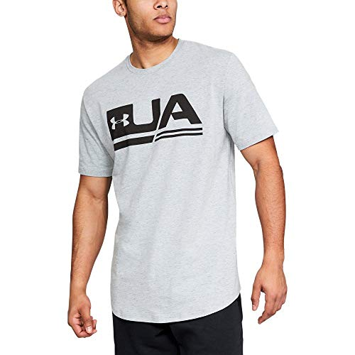 Under Armour Men's sportstyle Short sleeve Tee, White (100)/Black, Medium (Mens Under Armour Graphic Tees)