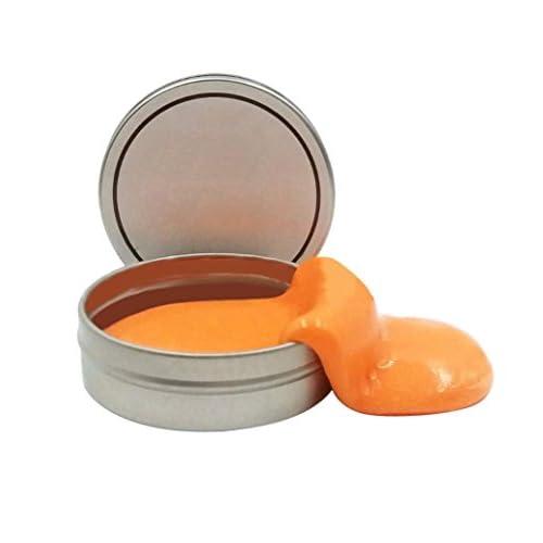 MML Fluffy Slime Creative Luminous Bouncing Plasticine Caoutchouc Squishy Boue Slime Baignade parfumée Soulagement du stress No Borax Clay Toy (1Pc, B)