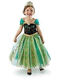 Girls Princess Green Anna Fancy Dress Costume