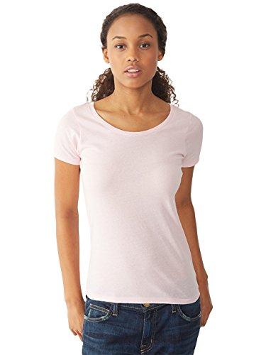 Alternative Womens Organic Cotton Scoop Neck T-Shirt X-Large Earth Pink Ribbon