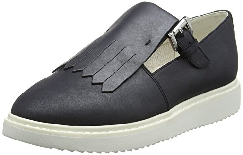 Geox D724BD000MR, Zapatos Slip On Mujer Negro (BLACKC9999)
