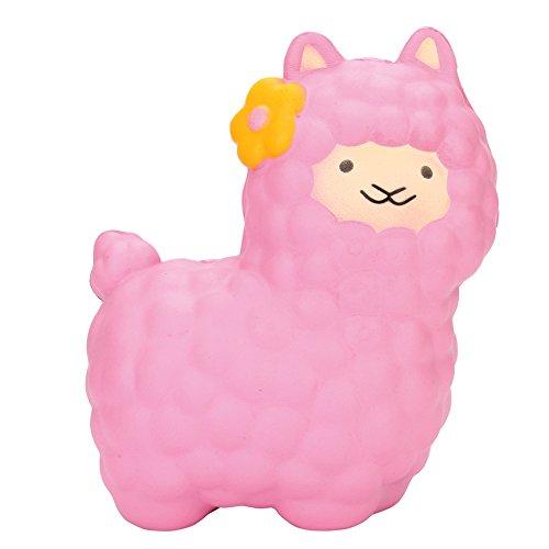 Homeparty Jumbo Sheep Squishy Cute Alpaca Super Slow Rising Scented Fun Animal -