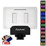 #7: Aputure AL-M9 Amaran LED Mini Light on Camera Video Light w 12 Transparent Color Filter … (w Filter)