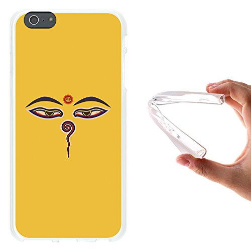 WoowCase Hülle Case für { iPhone 6 Plus 6S Plus } Handy Cover Schutzhülle Buddha Augen