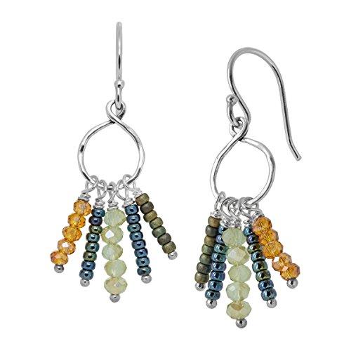 Lapis French Wire Earrings (Silpada 'Tropical Palms' Sterling Silver Drop Earrings)