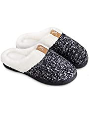 BERGMAN KELLY Women's Slippers, Memory Foam Indoor/Outdoor House Shoes with Ultra Soft Wool-Like Plush Fleece Lining (Prairie Collection)