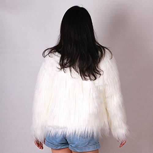 Fourrure Costume 3XL Fille Led blousons Manteaux et Ohlees Partie vtements Brillant Gilet Light Femme Up Fausse 1zWqSp