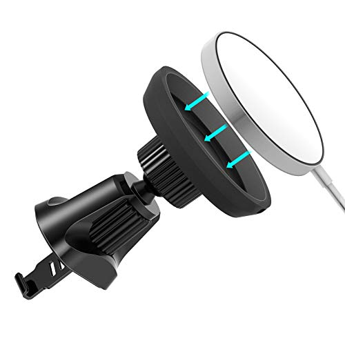 Ciencimy Wireless Car Charger Mount for Magsafe Wireless Charger, Car Air Vent Mount Phone Holder Compatible for iPhone 12mini ,iPhone 12 /pro,iPhone 12pro Max