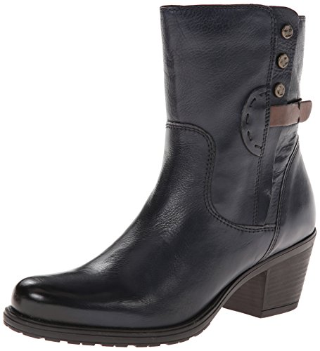 Clarks Women's Maymie Skye Chelsea Boot,Navy Leather,6.5 M U