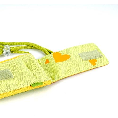 NFE² Jugendliches Leinen Etui grün - gelb für Apple iPhone 3GS
