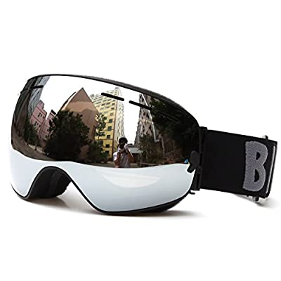 Snow sports Ski Goggle Winter Outdoor Sport Wide Vision Venting-Design Unisex Adult Detachable Layer Anti-fog 100% UV400 UV-protection Spherical Double Lens for Men Women