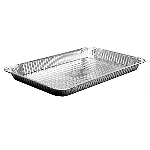 HFA 4021, Full-Size Shallow Aluminum Sheet Foil Pans with Foil Lids, Take Out Baking Disposable Foil Containers with Matching Covers (50)