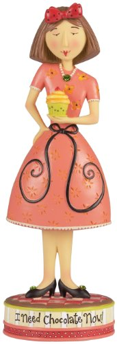 Carson Home Accents 19838 Chocolate Now Dan Dipole Resin Figurine, 7-Inch