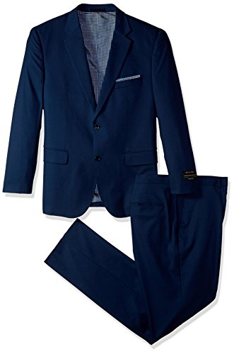 Alexander Julian Colours Men's Big and Tall Single Breasted Modern Fit Suit, French Blue, 46 Short by Alexander Julian Colours