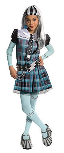 Deluxe Frankie Stein Child Costume - (Monster High Frankie Stein Wig)