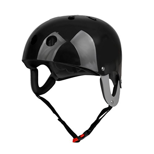 MonkeyJack Pro Safety Adjustable Helmet CE Approved for Whitewater Waterskiing Sports Kayaking Sailing Rafting Boating Head Circumference 22.4
