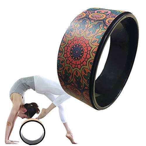 WESEEDOO Yoga Wheel Yogaring Yoga Wheel Yoga Haltung Yoga Prop Wheel erhöht die Flexibilität Flexibilitätshilfe Yoga Wheel Fitness Yoga Rad Pilates-Übungsrad